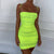 Neon green dress Women Dress chicas sexy Dress neon outfits chica sexy - CIVIBUY