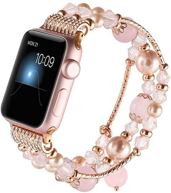Apple Fashion Beaded Elastic Bracelet Band for 38mm 40mm Apple Watch - CIVIBUY