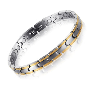 Elegant Men Womens Titanium Magnetic Therapy Bracelet Pain Relief for Arthritis and Carpal Tunnel - CIVIBUY