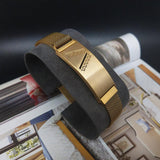 Fashion Titanium Magnetic Buckle Bracelet for Men Women ,gold N441S - CIVIBUY