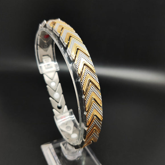 Powerful Mens Magnetic Bracelet for Arthritis Mens Gold Power  Bracelet - CIVIBUY