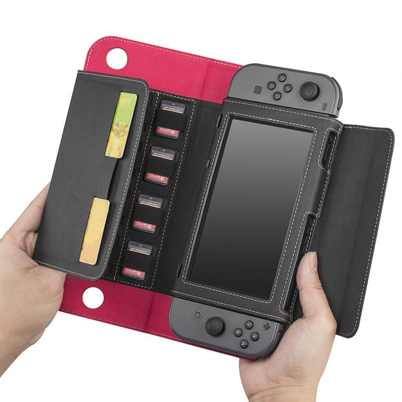switch Nintendo Switch Wallet Style Carrying CaseCover For Nintendo Switch Case, with 10 Card Holeders & Stand Function - CIVIBUY
