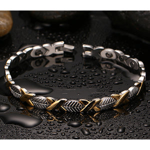 Titanium Stainless Steel Magnetic Therapy Bracelet Health Care Gift for Womens KC-G16 - CIVIBUY