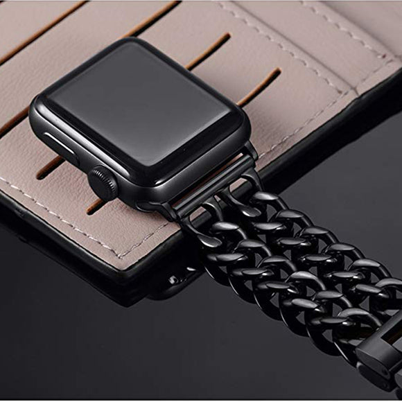 Stainless Steel Bands Compatible Watch Series 5/4/3/2/1 Chain Replacement Strap - CIVIBUY