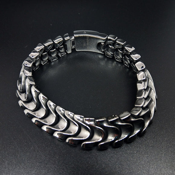 viking bracelet Jewelry cuba fashion Men's Bracelet silver bracelet for men 8.3 inch - CIVIBUY