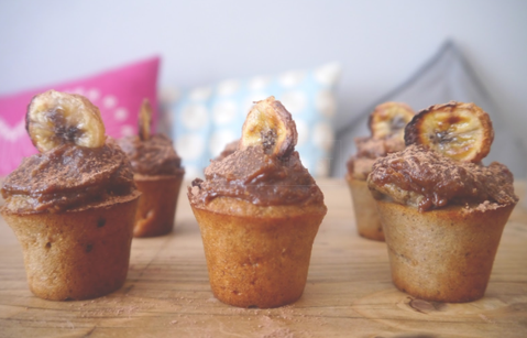"""Gluten-free Banoffee Muffins"" by Georgi A baked in Fusionbrands PetitePots"