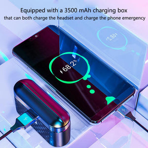 2020 New Digital Wireless Charging Bluetooth Headset