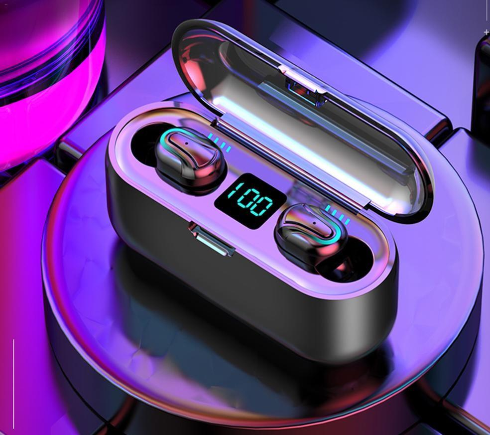 2019 Waterproof LED Touch Screen Wireless Bluetooth Headset