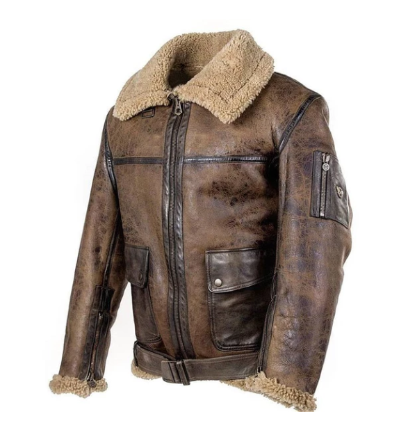 Outwear Leather Jacket With Plush