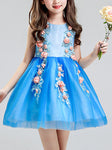 Best 3D Flower Blue Tulle Dress 2019 | Girl Outfit | Chill and Slay