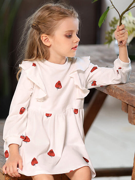 Amazing Strawberry Girls Dress 50% OFF+FREE SHIPPING | Chill and Slay