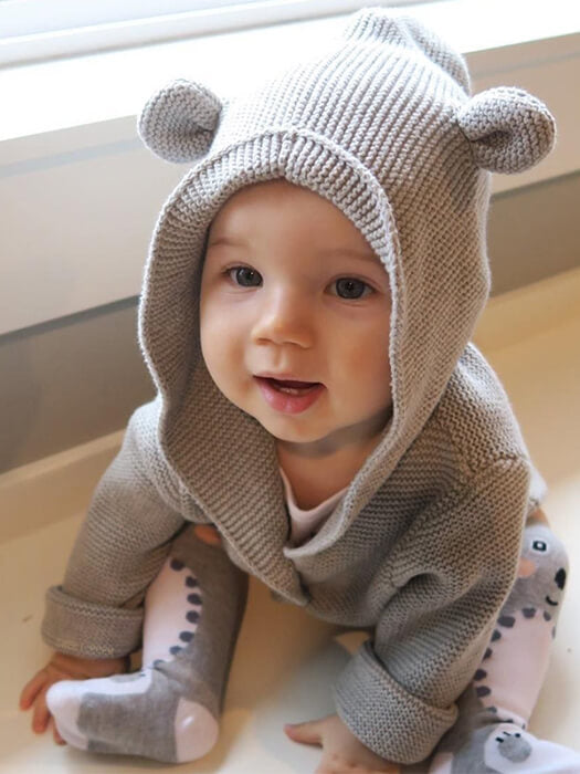 Bear Ear Baby Sweater 50% Off-Free Shipping-Chill And Slay
