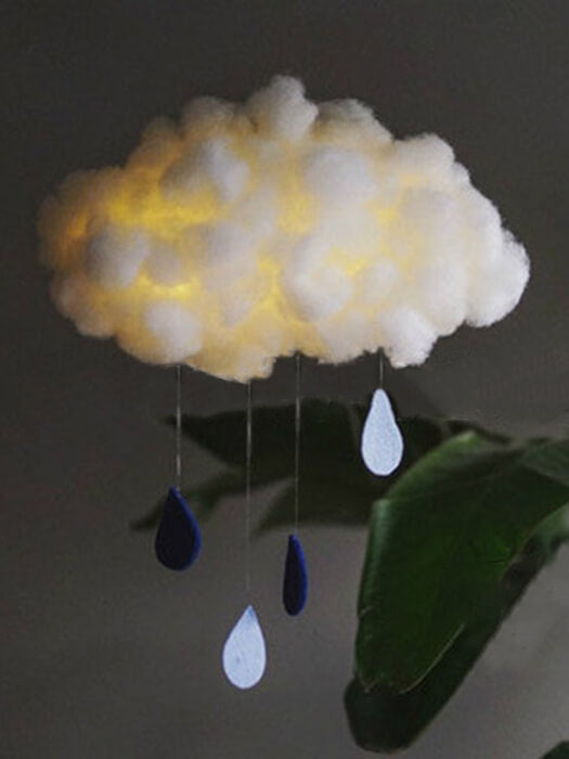 Cloud And Drops Lamp