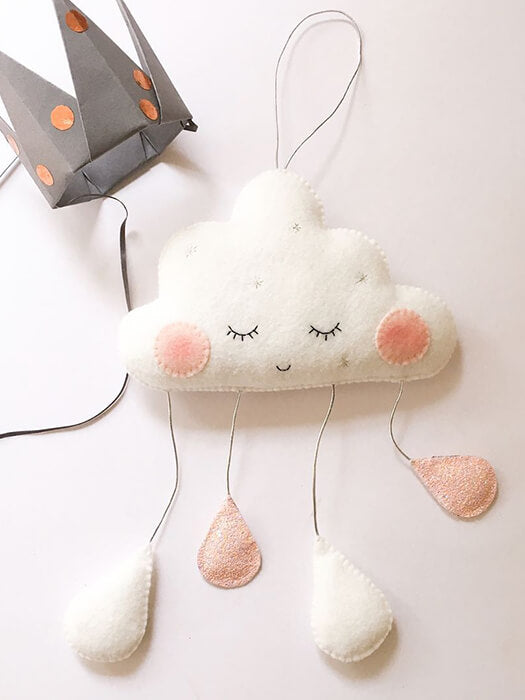 Best Sleepy Cloud Felt Decor 50% OFF+FREE SHIPPING - Chill and Slay