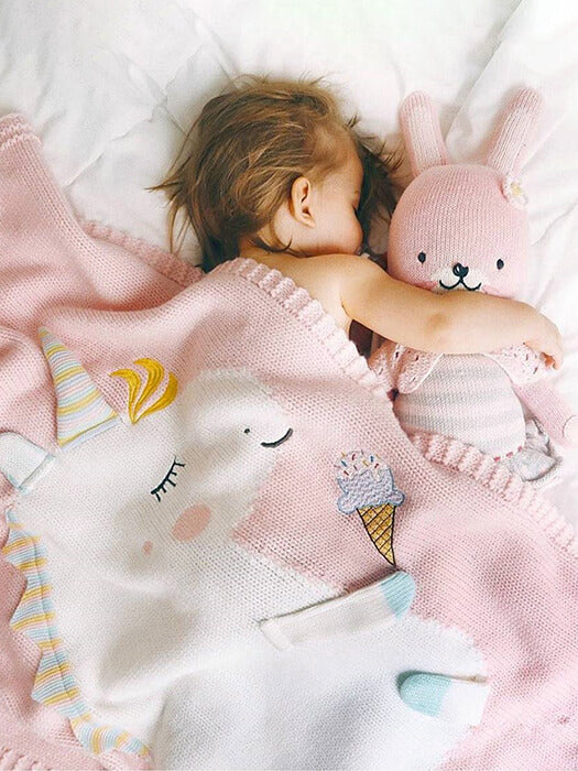 Amazing Unicorn Knit Blanket 50% OFF+FREE SHIPPING - Chill and Slay
