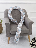 Best  Soft Pad Braided Crib Bumper Knot Pillow-50% Off-Free Shipping