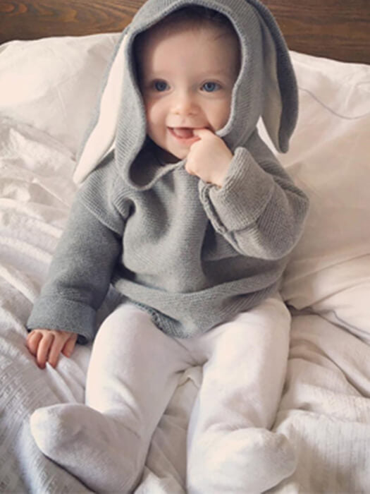 Baby Rabbit Ear Sweater & Outfit 50% Off-Free Shipping-Chill And Slay