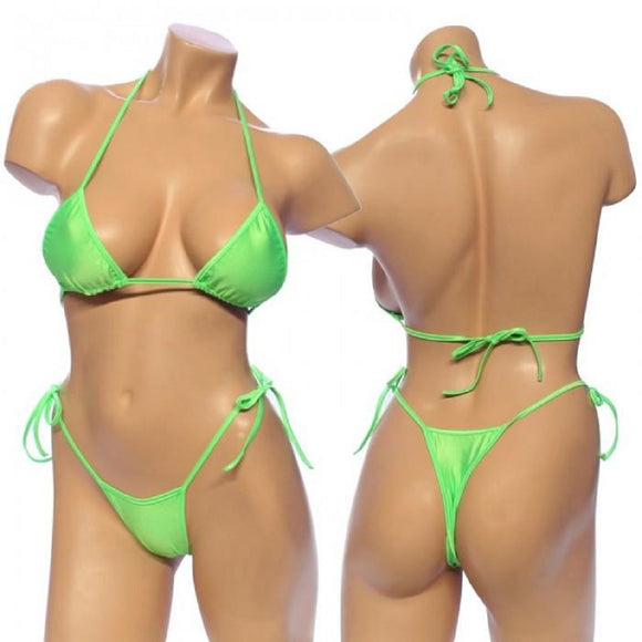 Women's, Tie Side Bikini Set. HE-3001 Green