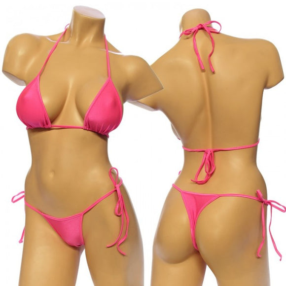 Women's, Tie Side Bikini Set. HE-3001 Pink
