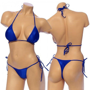Women's, Tie Side Bikini Set . HE-3001 Royal/Blue