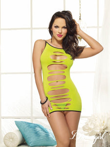 Dream Girl DG8085 Seamless Two Way Knit Dress, Lime