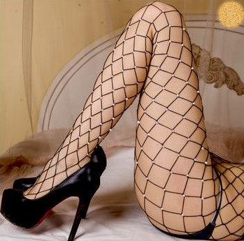 Sexy Exotic Dancer Diamond big hole fishnet pantyhose Wenni 2017060701