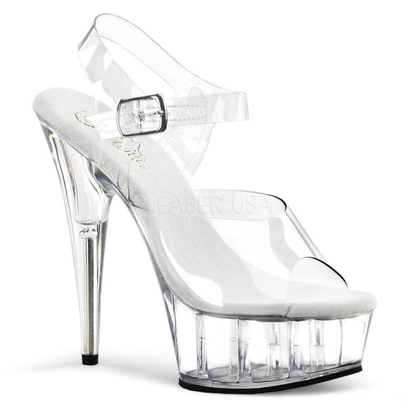 Pleaser DELIGHT-608 Exotic Dancing Shoes, Ankle Strap 6