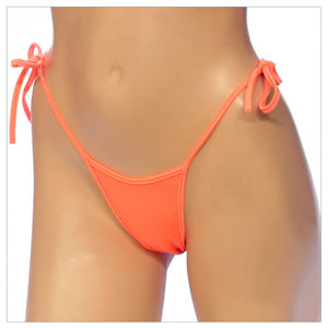 Women's, Exotic,  Side Tie T Back Thong, G-String Bottom. (G-4)