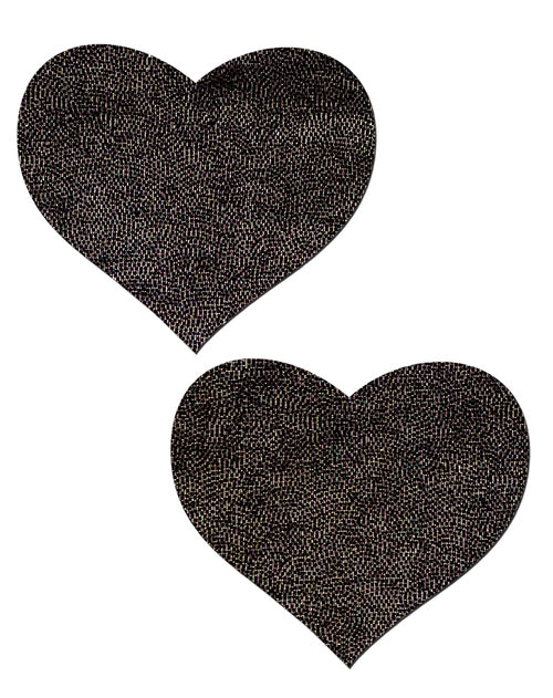 Liquid Black Heart Nipple Pasties by Pastease® o/s