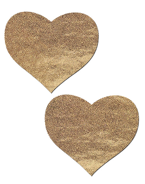 Liquid Gold Heart Nipple Pasties by Pastease® o/s