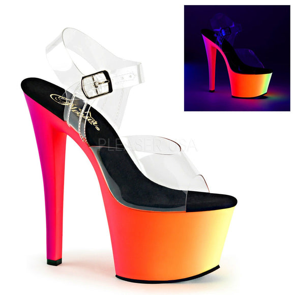 Pleaser RAINBOW-308UV Clubwear Ankle Strap Stiletto 7