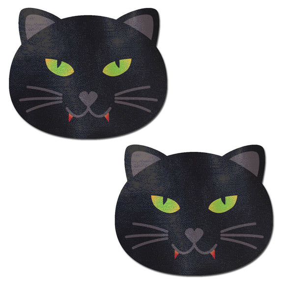 Kitty Cat: Black Vampire Halloween Kitty Cat Nipple Pasties by Pastease.