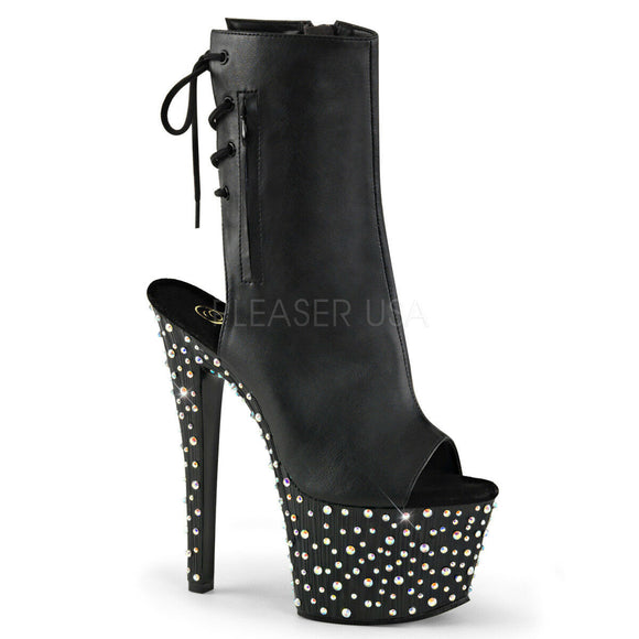 Pleaser RAINBOW-309UV Clubwear Ankle Strap 7