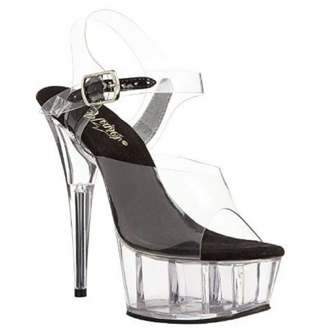 a390fa5a6c6fa Pleaser DELIGHT-608 Exotic Dancing Shoes, Ankle Strap 6