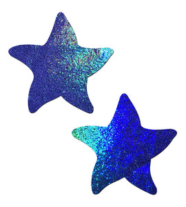 Starfish: Liquid Spectrum Blue Sea Star Nipple Pasties by Pastease® o/s