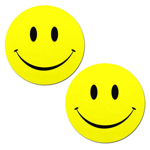 Smiley Faces: Bright Yellow Nipple Pasties by Pastease® o/s