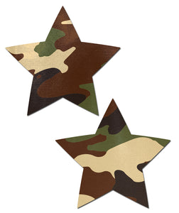 Star: Camouflage Star Nipple Pasties by Pastease® o/s