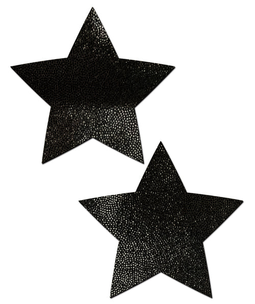 Star: Liquid Black Star Nipple Pasties by Pastease® o/s