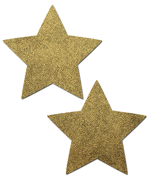 Star: Liquid Gold Star Nipple Pasties by Pastease® o/s