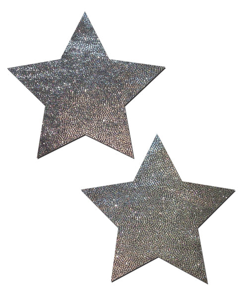 Star: Liquid Silver Star Nipple Pasties by Pastease® o/s