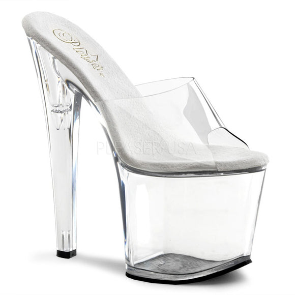 Pleaser TABOO-701 Clear High Heel Platform Sandal