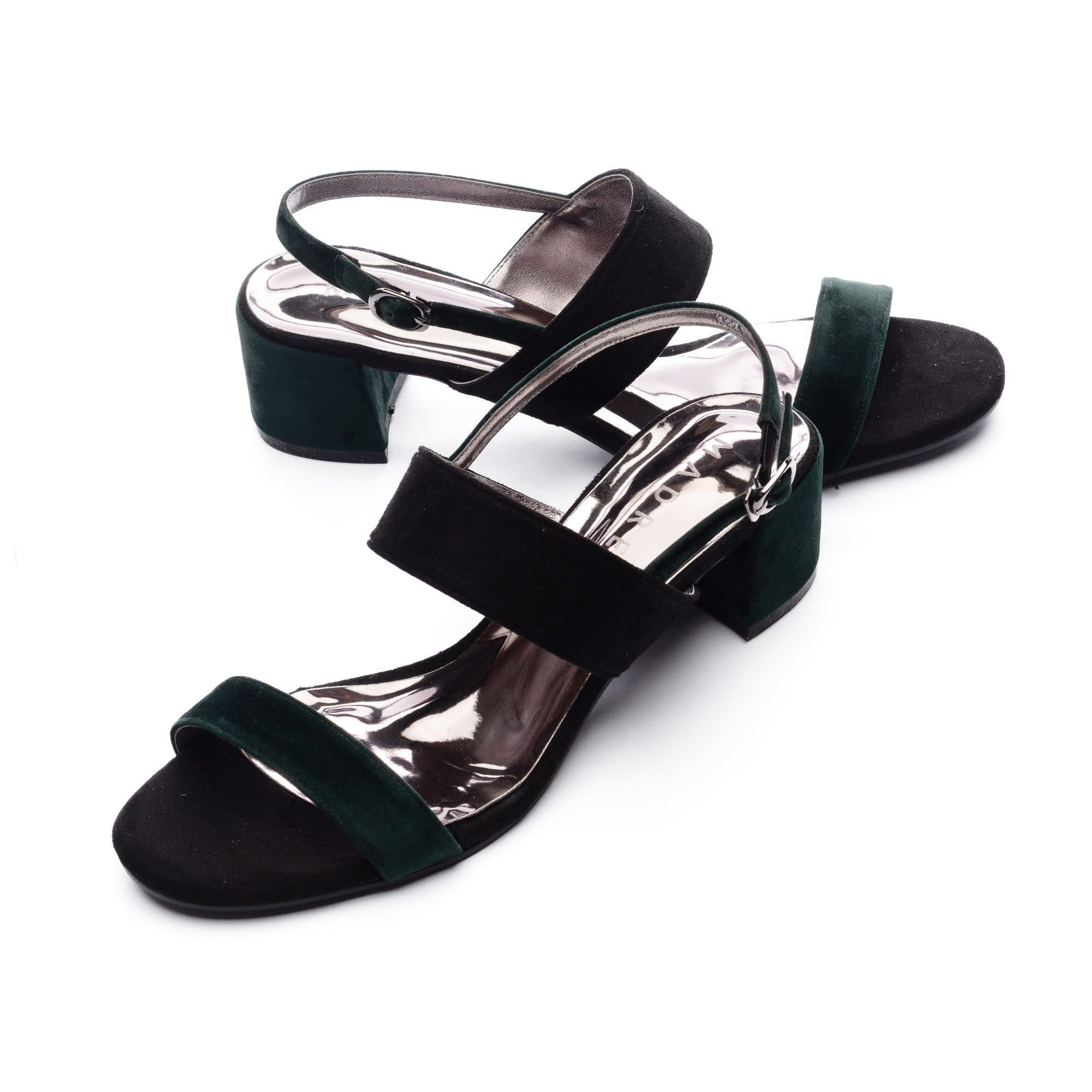 Trizz Block Heels Madre Collection 35(4) GREEN