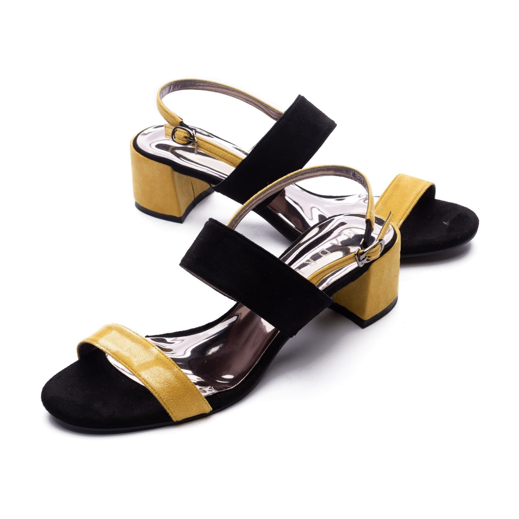 Trizz Block Heels Madre Collection 35(4) YELLOW