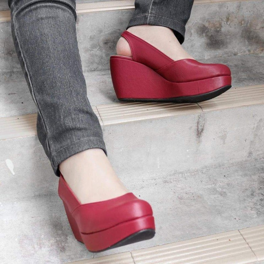 Reana Wedges Madre Collection 35 Maroon