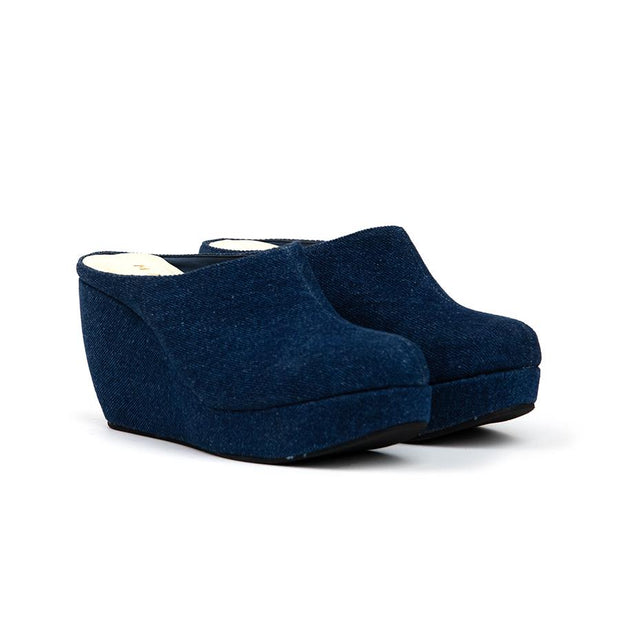 Aleena Wedges Madre 35 Blue Jeans