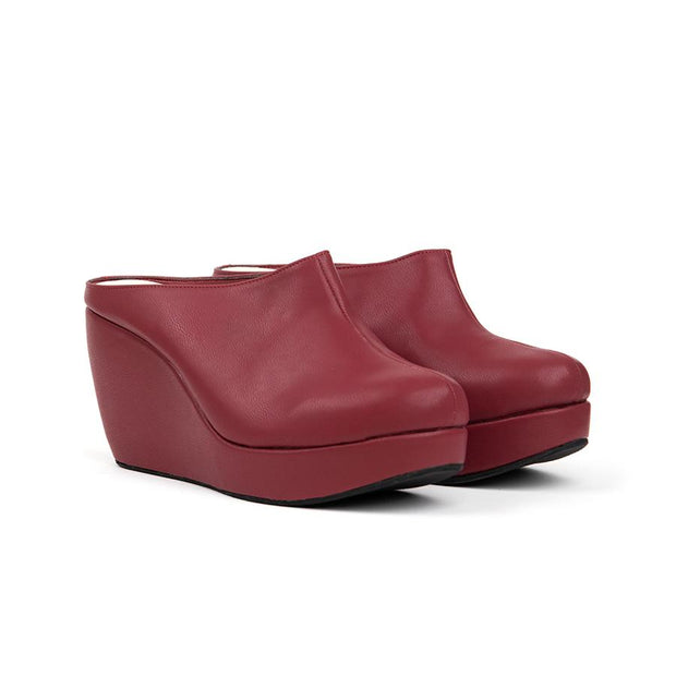 Aleena Wedges Madre 35 Maroon