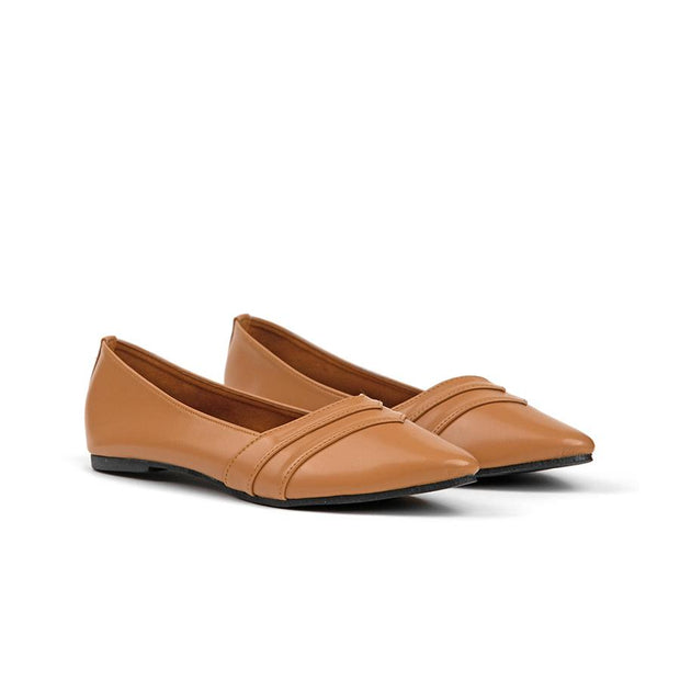 Camilla Flat Shoes Madre 35 Caramel