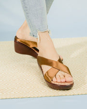 Safya Sandals Madre Collection 36 Brown