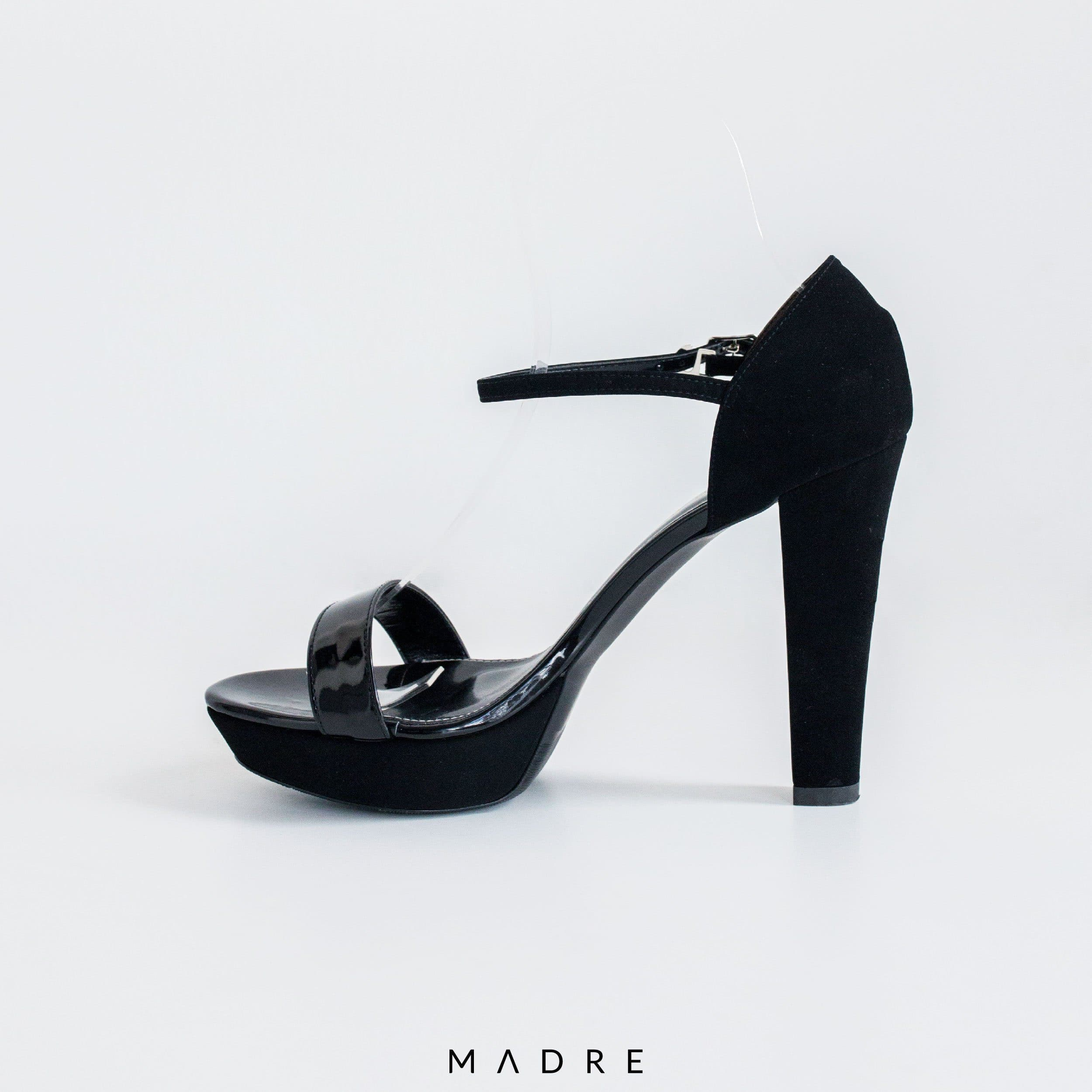 Eldora Block Heels Madre Collection 38 BLACK