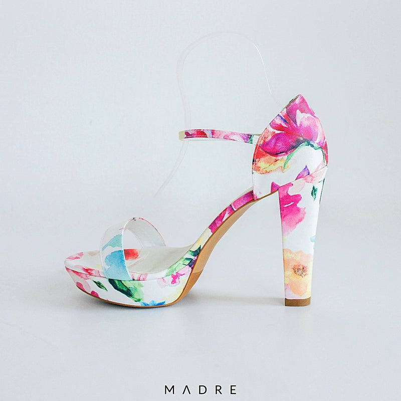 Eldora Block Heels Madre Collection 38 FLORAL